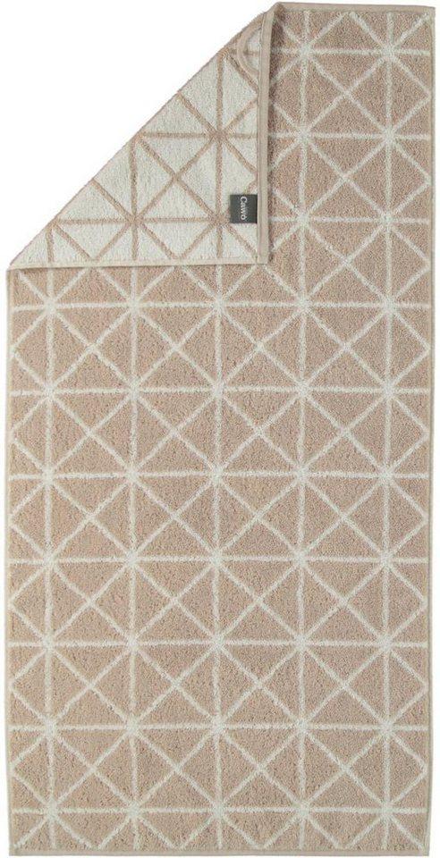 Badetuch, Cawö, »Nordic Grafik«, mit besonderem Muster in beige