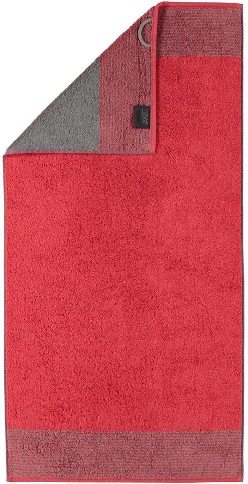 Saunatuch, Cawö, »Two-Tone«, mit Wendeoptik in rot