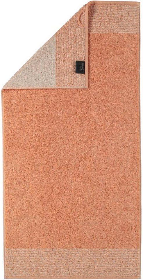 Handtücher, Cawö, »Two-Tone«, mit Wendeoptik in orange