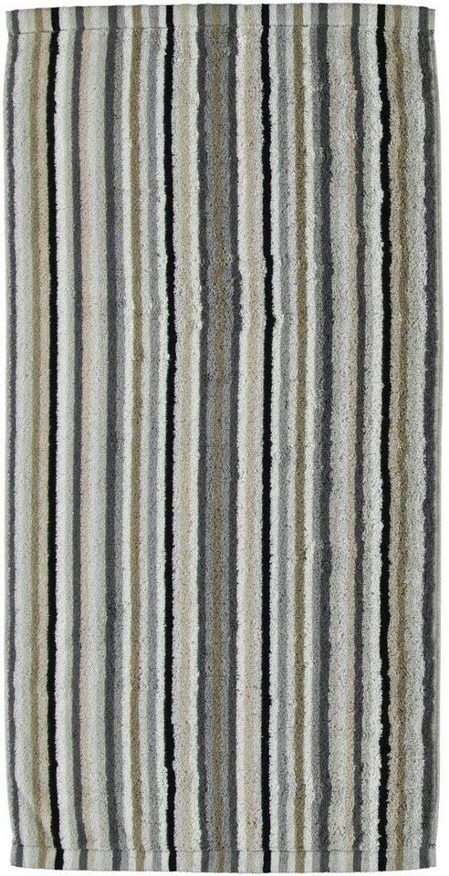 Badetuch, Cawö, »Lifestyle Streifen«, mit feinen Streifen in kiesel