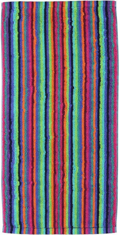 Saunatuch, Cawö, »Lifestyle Streifen«, mit Streifen in multi-neon