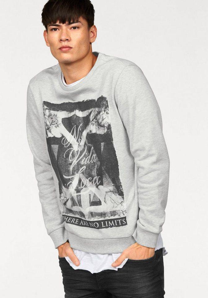 John Devin Sweatshirt in ecru-meliert