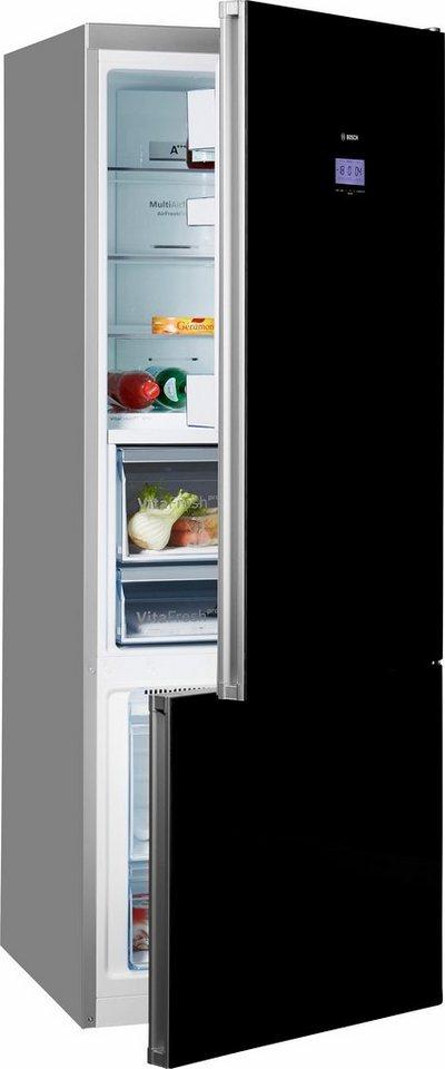 Bosch Stand-Kühl-Gefrierkombination KGF56HB40, A+++, 193 cm, No Frost, Home Connect in schwarz