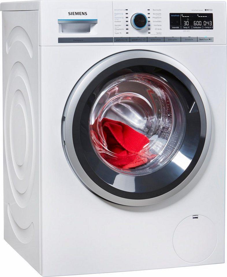 SIEMENS Waschmaschine WM14W740, A+++, 8 kg, 1400 U/Min in weiß