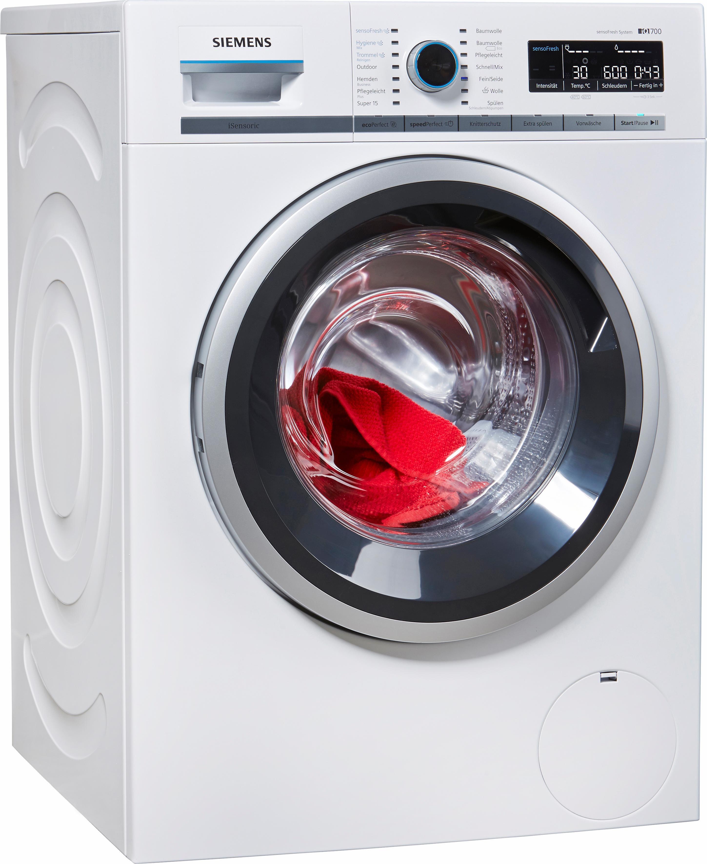 SIEMENS Waschmaschine WM14W740, A+++, 8 kg, 1400 U/Min