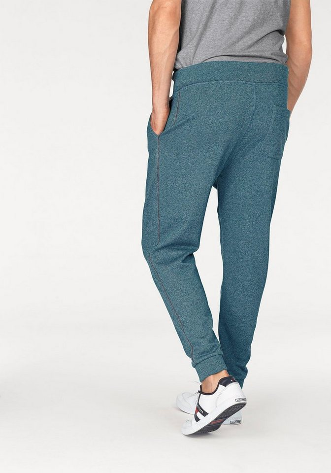 Hilfiger Denim Jogginghose »BASIC JOGGING PANT 1« in melierter Optik in petrol-meliert