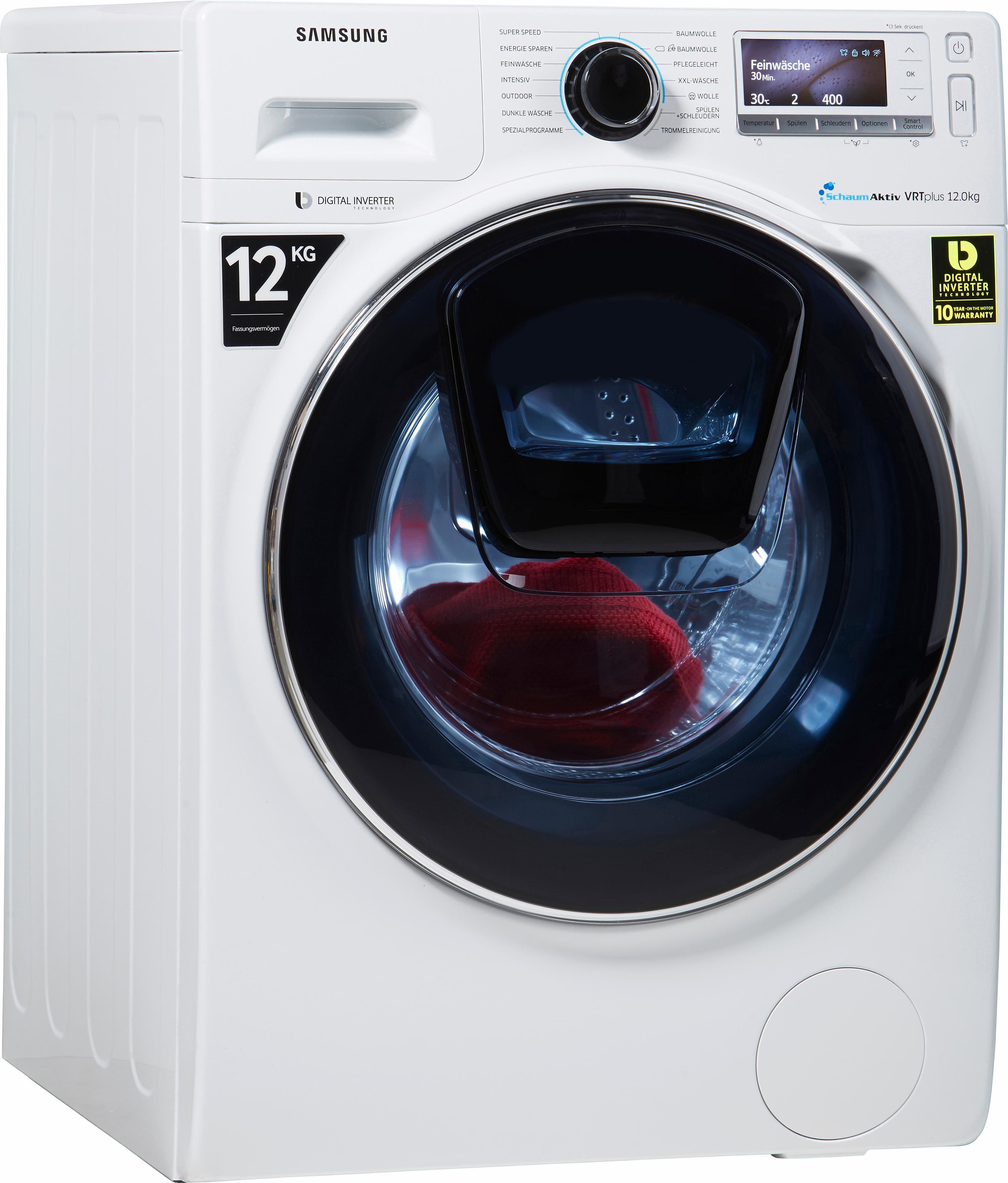 Samsung Waschmaschine WW12K8402OW/EG, A+++, 12 kg, 1400 U/Min