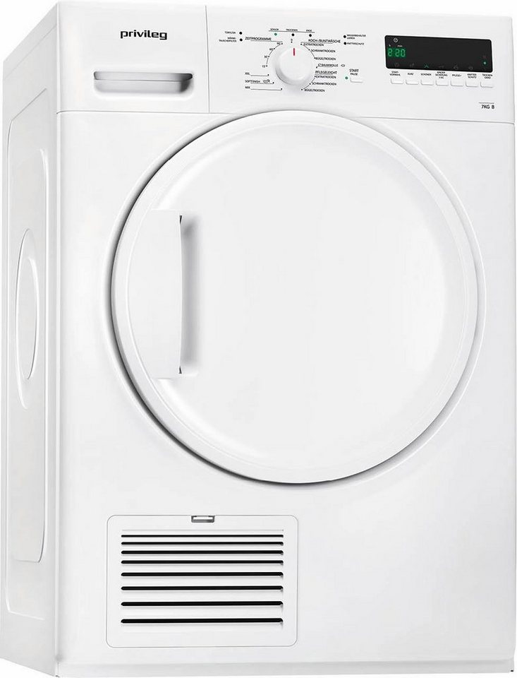 Privileg Trockner PWC 72B, B, 7 kg in weiß