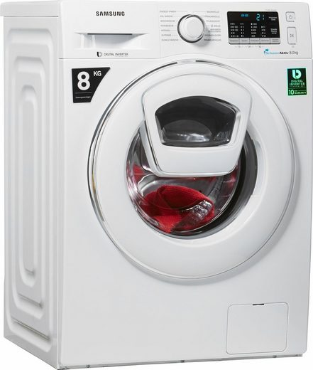 Samsung Waschmaschine AddWash WW5500 WW80K5400WW, 8 kg, 1400 U/Min, AddWash & FleckenIntensiv