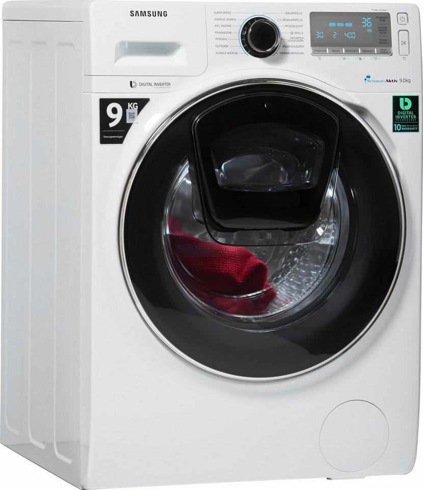 samsung waschmaschine ww7500 ww90k7405ow eg a 9 kg. Black Bedroom Furniture Sets. Home Design Ideas
