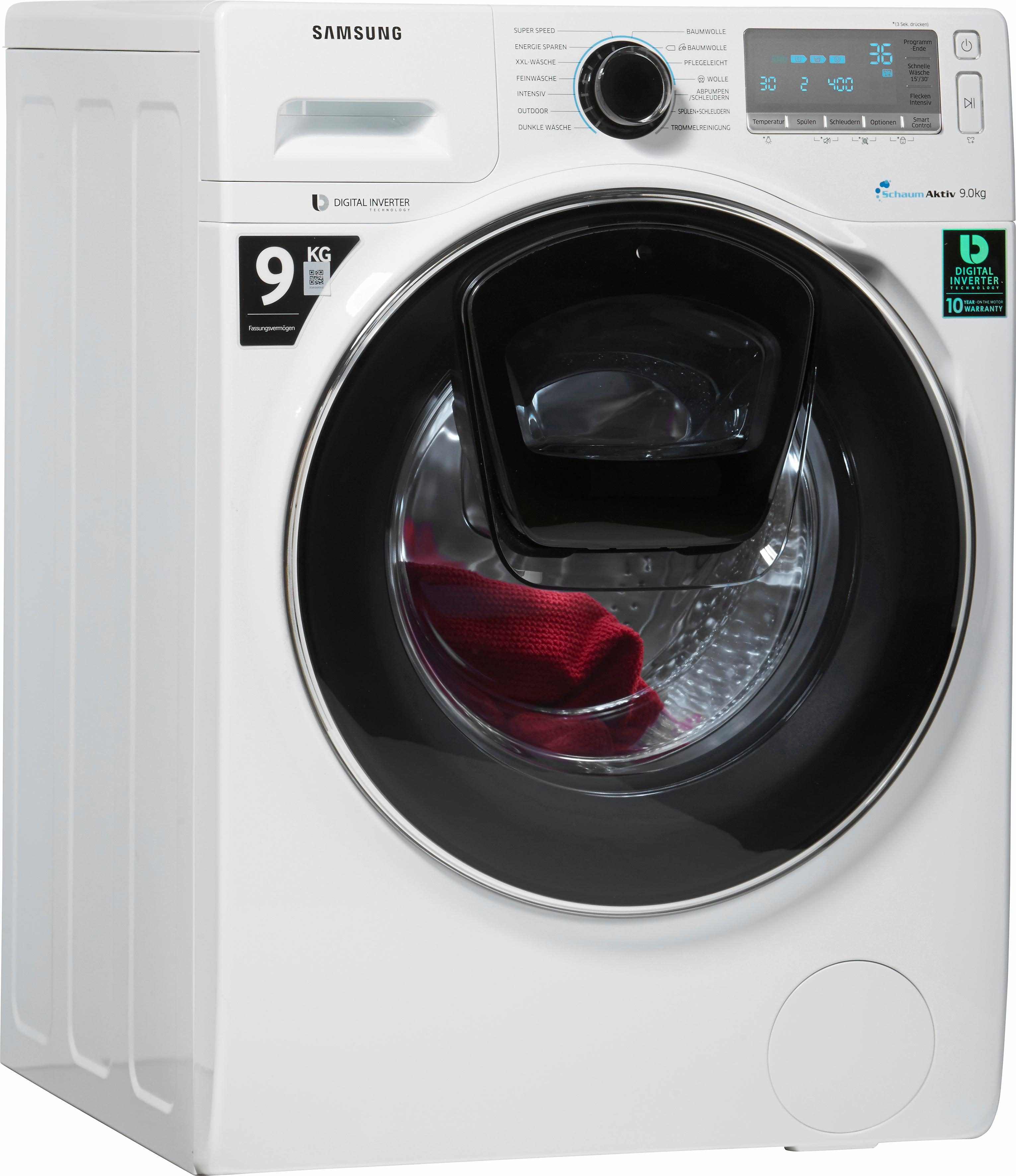 Samsung Waschmaschine WW90K7405OW/EG, A+++, 9 kg, 1400 U/Min