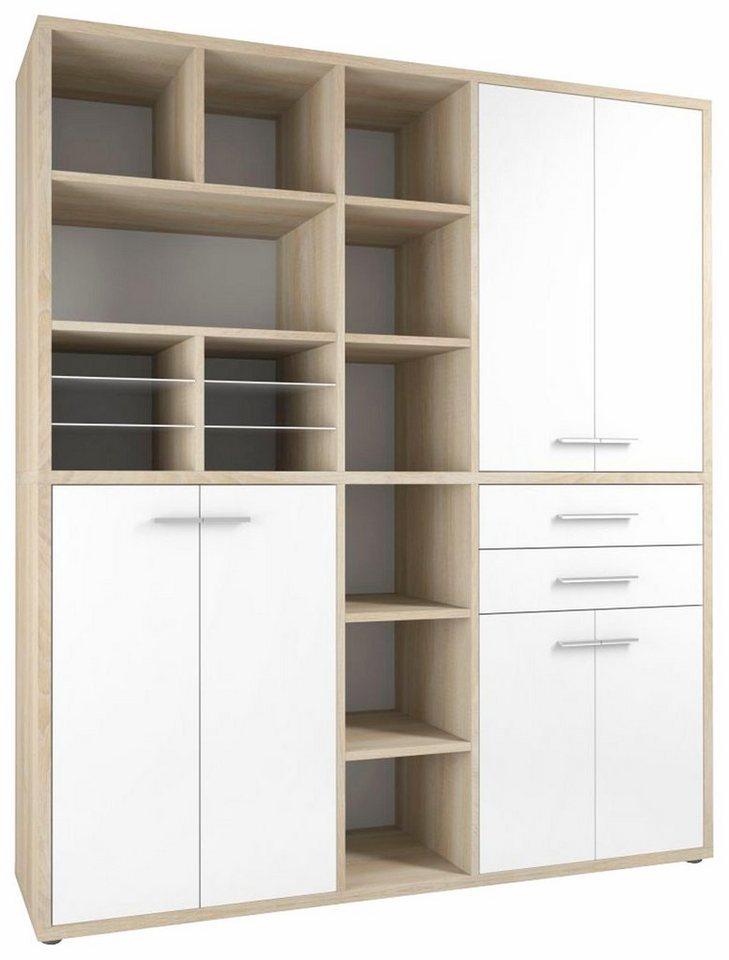 maja m bel highboard kombination set 1691 mit 15 f chern online kaufen otto. Black Bedroom Furniture Sets. Home Design Ideas