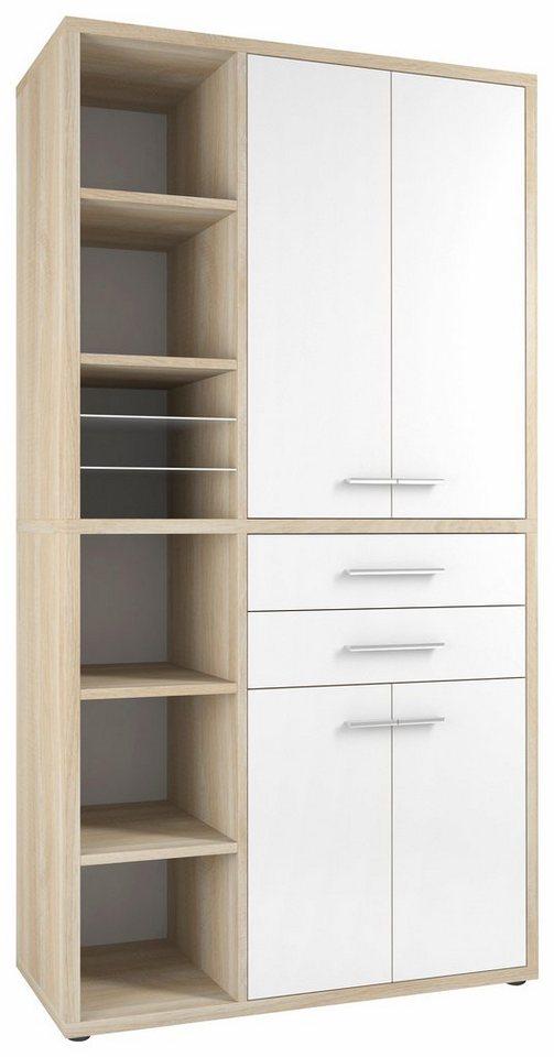 maja m bel highboard kombination set 1687 mit ged mpfter schlie ung online kaufen otto. Black Bedroom Furniture Sets. Home Design Ideas