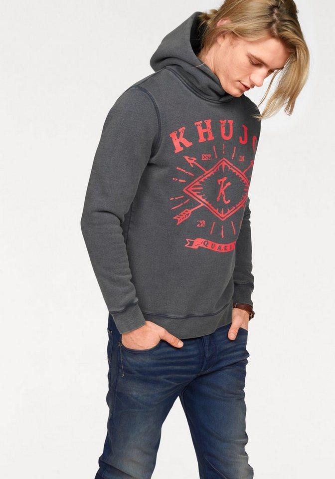 khujo Kapuzensweatshirt »Wanto« in schöner Waschung in blue-washed