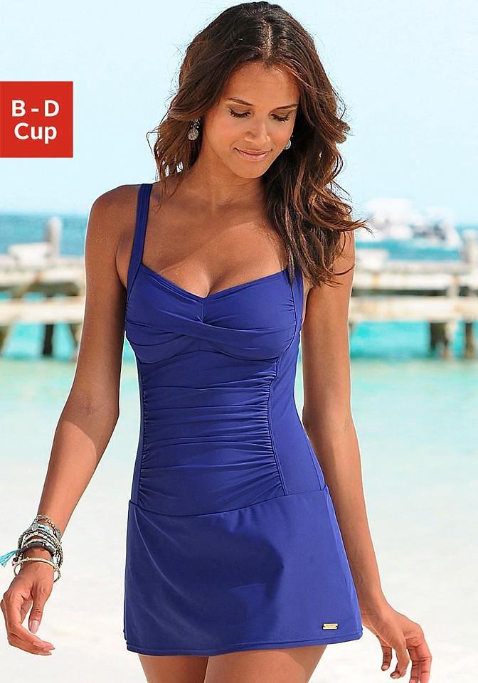 a964ad08515e34 LASCANA Badekleid, mit modischen Raffungen kaufen | OTTO