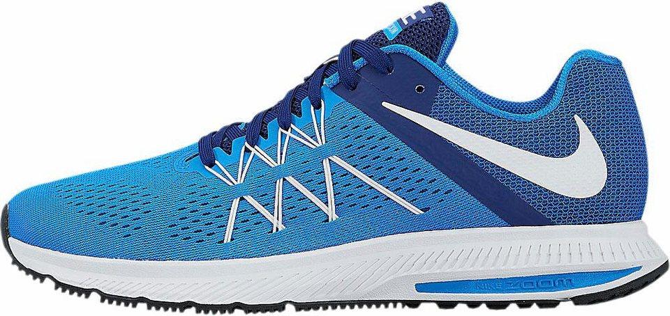 Nike »Zoom Winflo 3« Laufschuh in blau-weiß