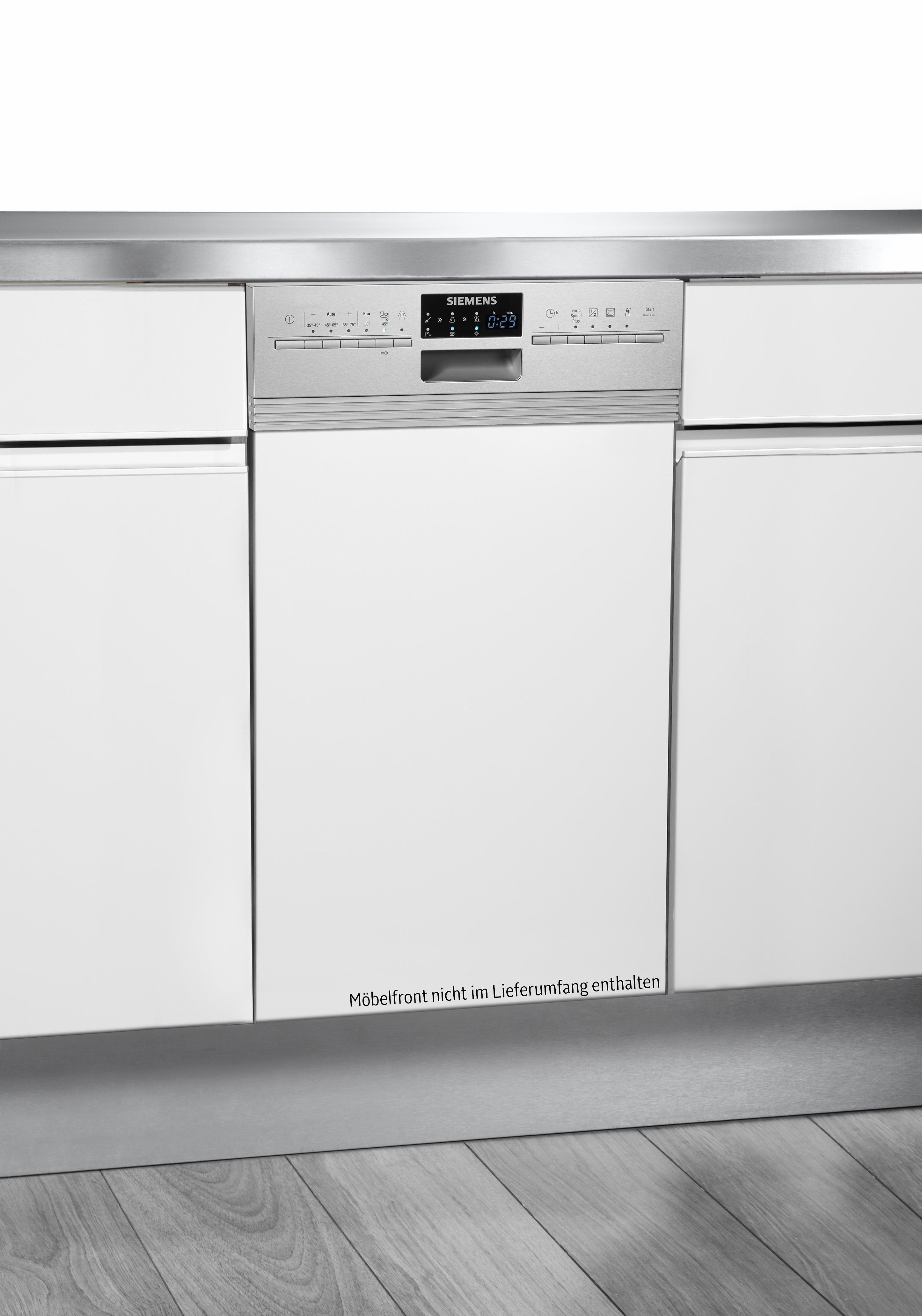 SIEMENS Teilintegrierbarer Geschirrspüler iQ500 SR56T597EU, A++, 9,5 Liter, 10 Maßgedecke
