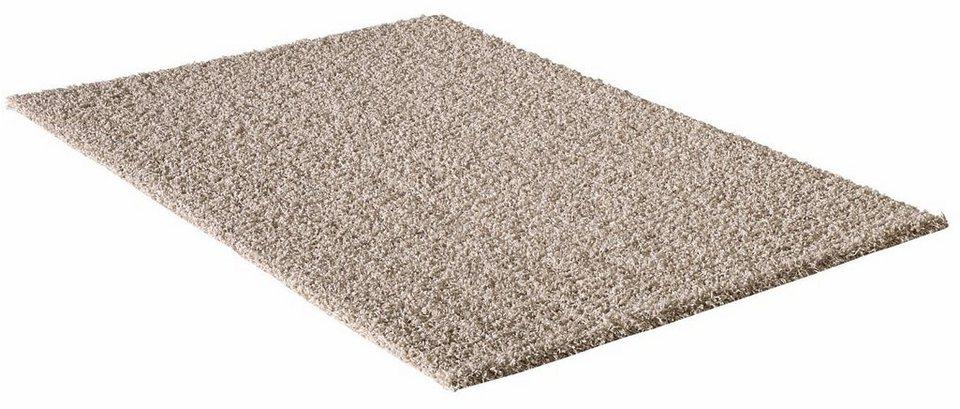 Hochflor-Teppich, Impression, »LOCA«, Höhe 50 mm, gewebt in beige