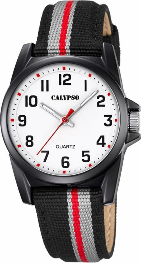 CALYPSO WATCHES Quarzuhr »K5707/8« in schwarz-grau-rot
