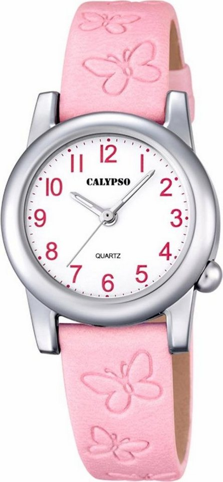 CALYPSO WATCHES Quarzuhr »K5711/2« Schmetterlingsprägung in rosa