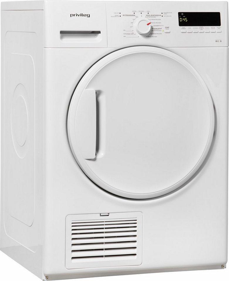 Privileg Trockner PWC 82B, B, 8 kg in weiß