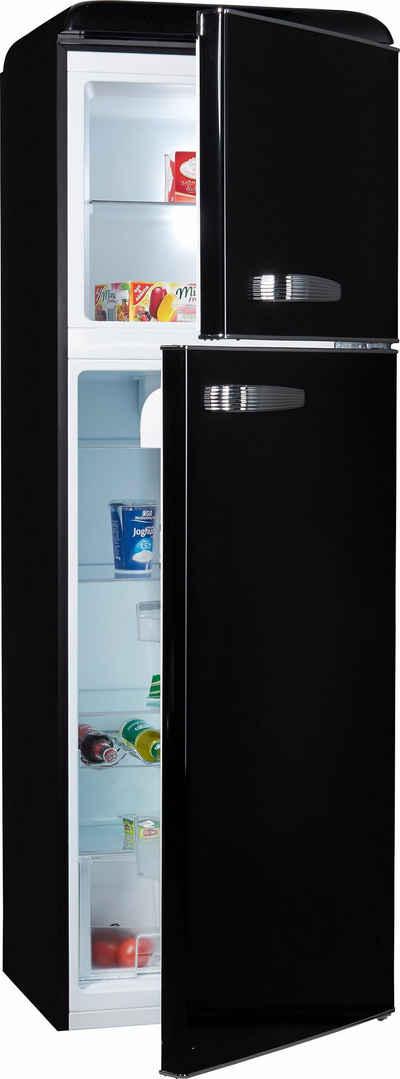 Retrokühlschrank schwarz online kaufen   OTTO