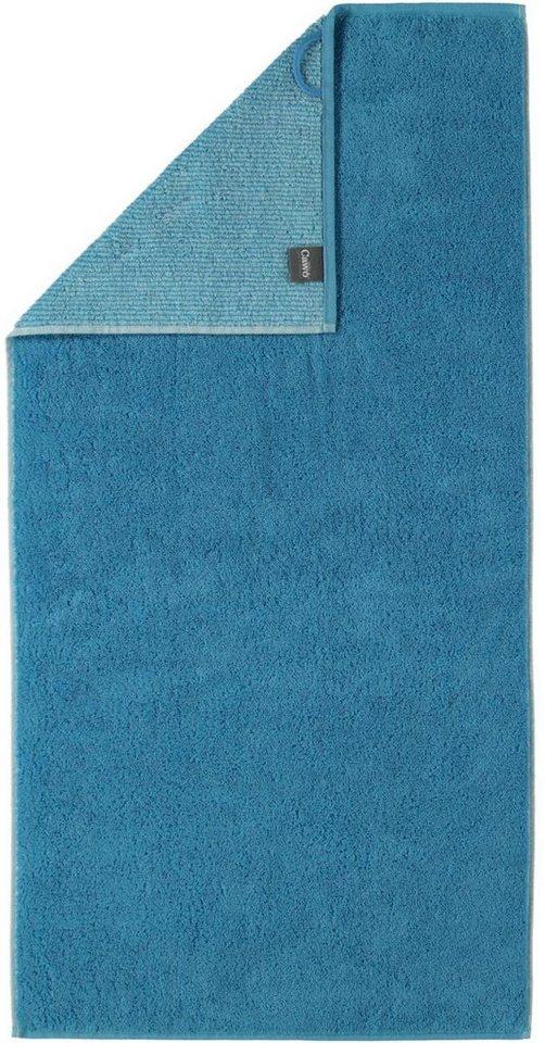 Badetuch, Cawö, »Quadro«, mit Wendeseite in blau