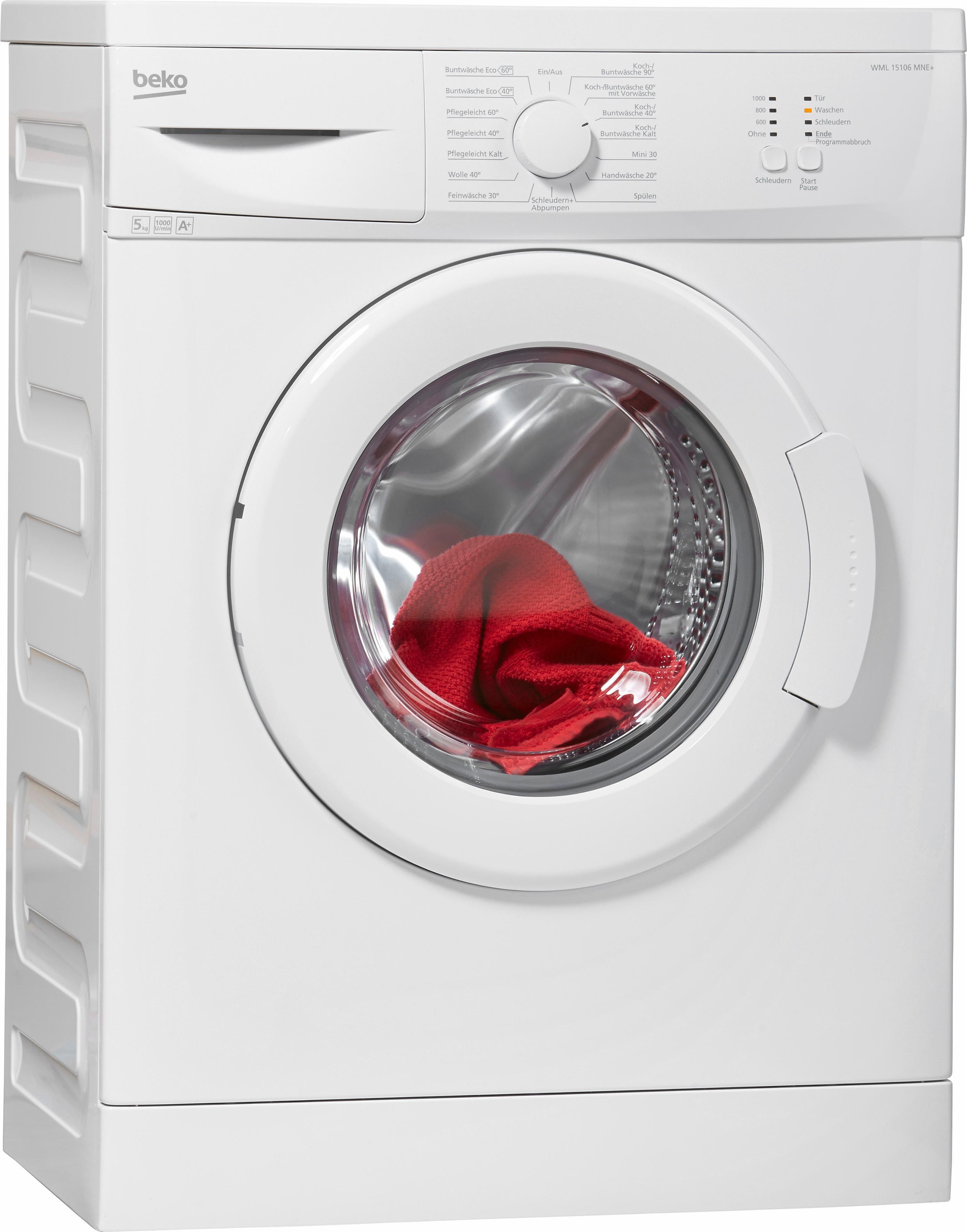 BEKO Waschmaschine WML 15106 MNE+, A+, 5 kg, 1000 U/Min