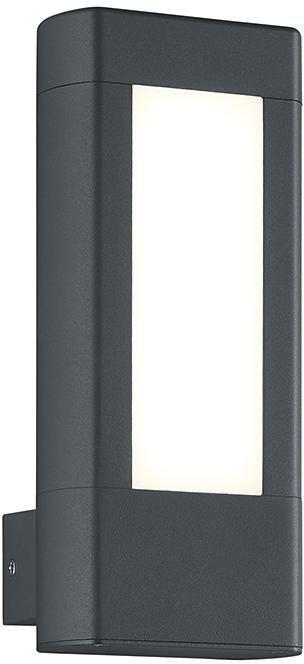 Trio LED Außenleuchte, 2flg., Wandleuchte, »RHINE« in Aluminium Druckguss, anthrazit