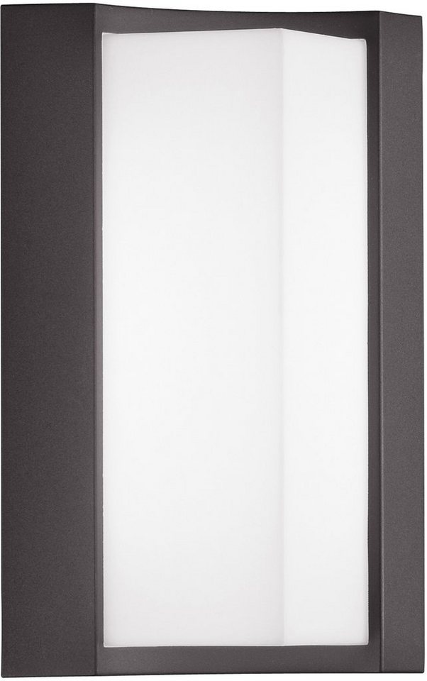 Trio LED Außenleuchte, 1flg., Wandleuchte, »SUEZ« in Aluminium Druckguss, anthrazit