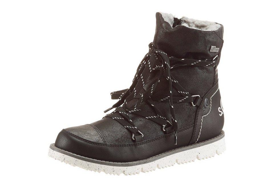 s.Oliver RED LABEL Stiefel mit Tex Ausstattung in schwarz