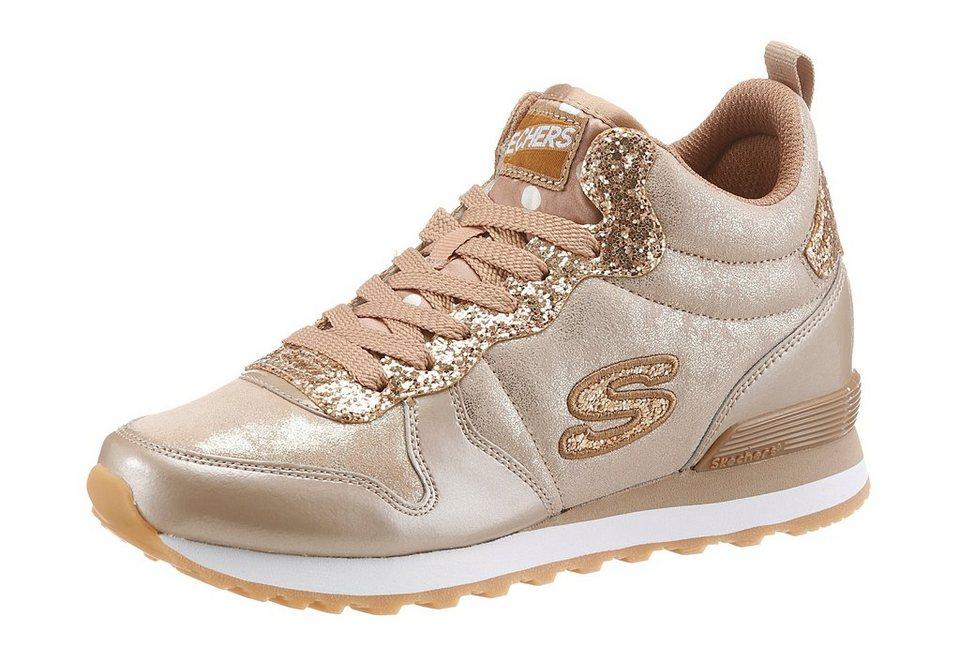 Skechers Sneaker mit Memory Foam in taupe-goldfarben