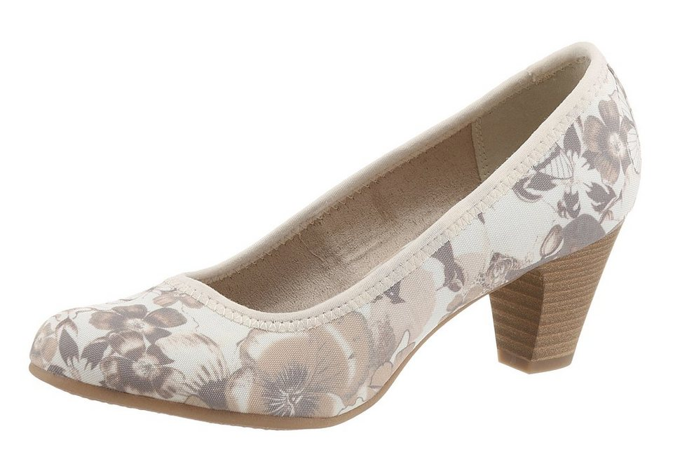 s.Oliver RED LABEL Pumps mit floralem Print in beige-braun