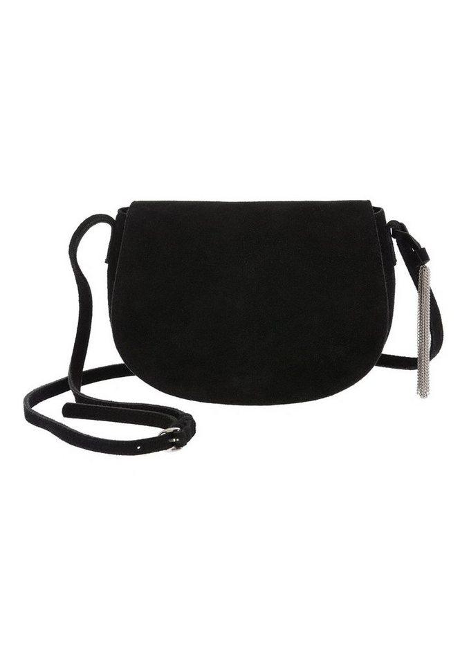 Vero Moda Umhängetasche aus Veloursleder in schwarz