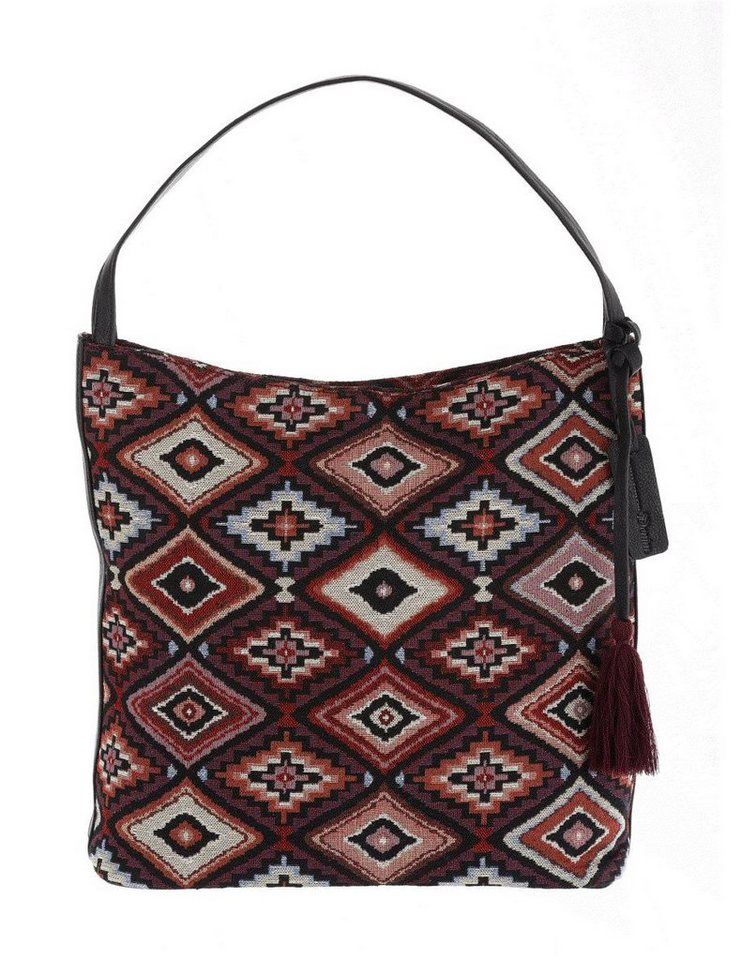 Tom Tailor Denim Hobo »CAROLYN« mit Aztekenmuster in lila-multi