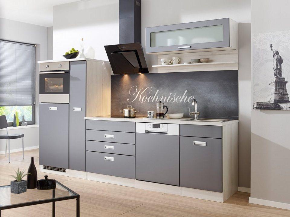 k chenzeile mit e ger ten fulda breite 280 cm otto. Black Bedroom Furniture Sets. Home Design Ideas