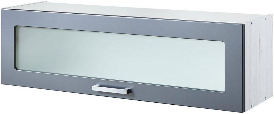 Held Möbel Küchenhängeschrank »Fulda«, Breite 110 cm in grau/polareichefarben