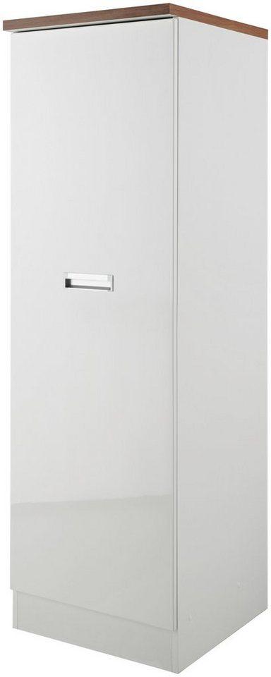 Vorratsschrank »Fulda«, Breite 50 cm in weiß/nussbaumfarben