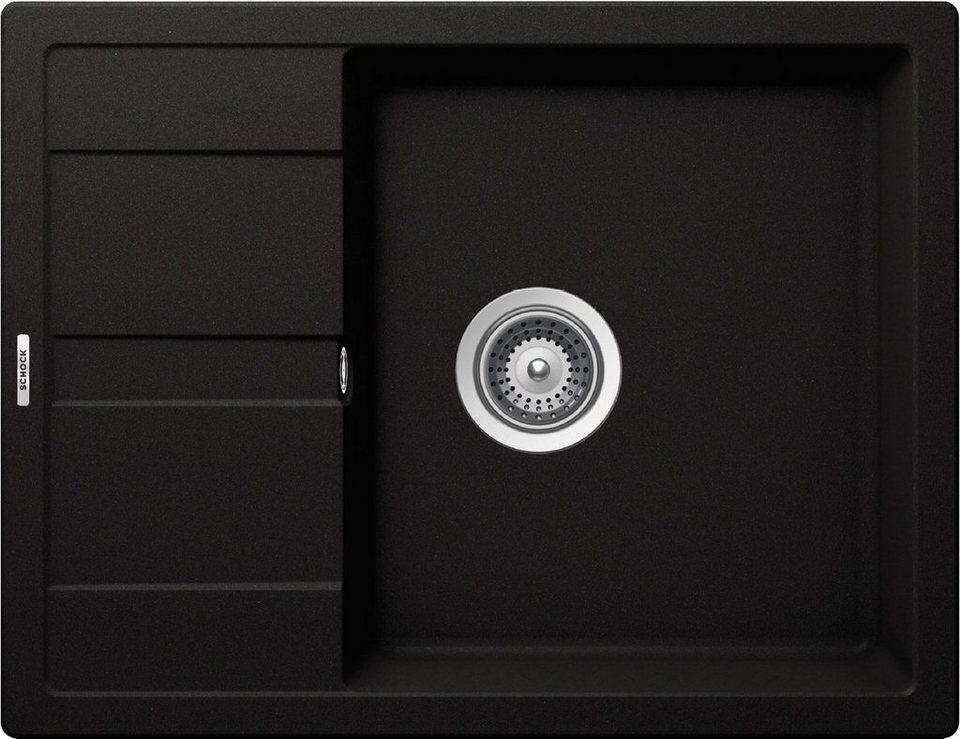 Domogranitspüle »Lucca Plus«, 65x50 cm in schwarz