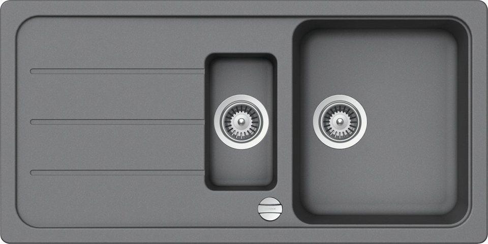 SCHOCK Granitspüle »Formhaus«, mit Restebecken, 100 x 50 cm online ...