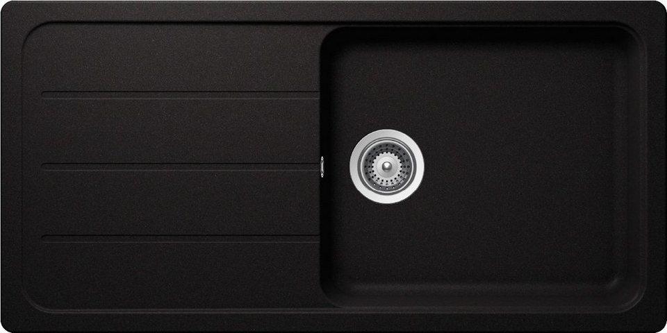 Domogranitspüle »Formhaus« mit großem Becken, 100x50 cm in schwarz