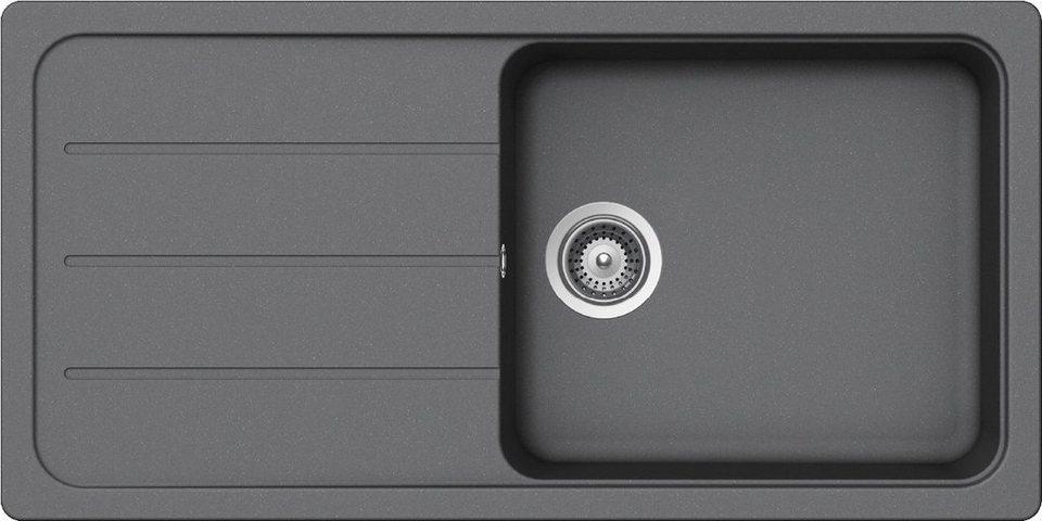 Domogranitspüle »Formhaus« mit großem Becken, 100x50 cm in grau