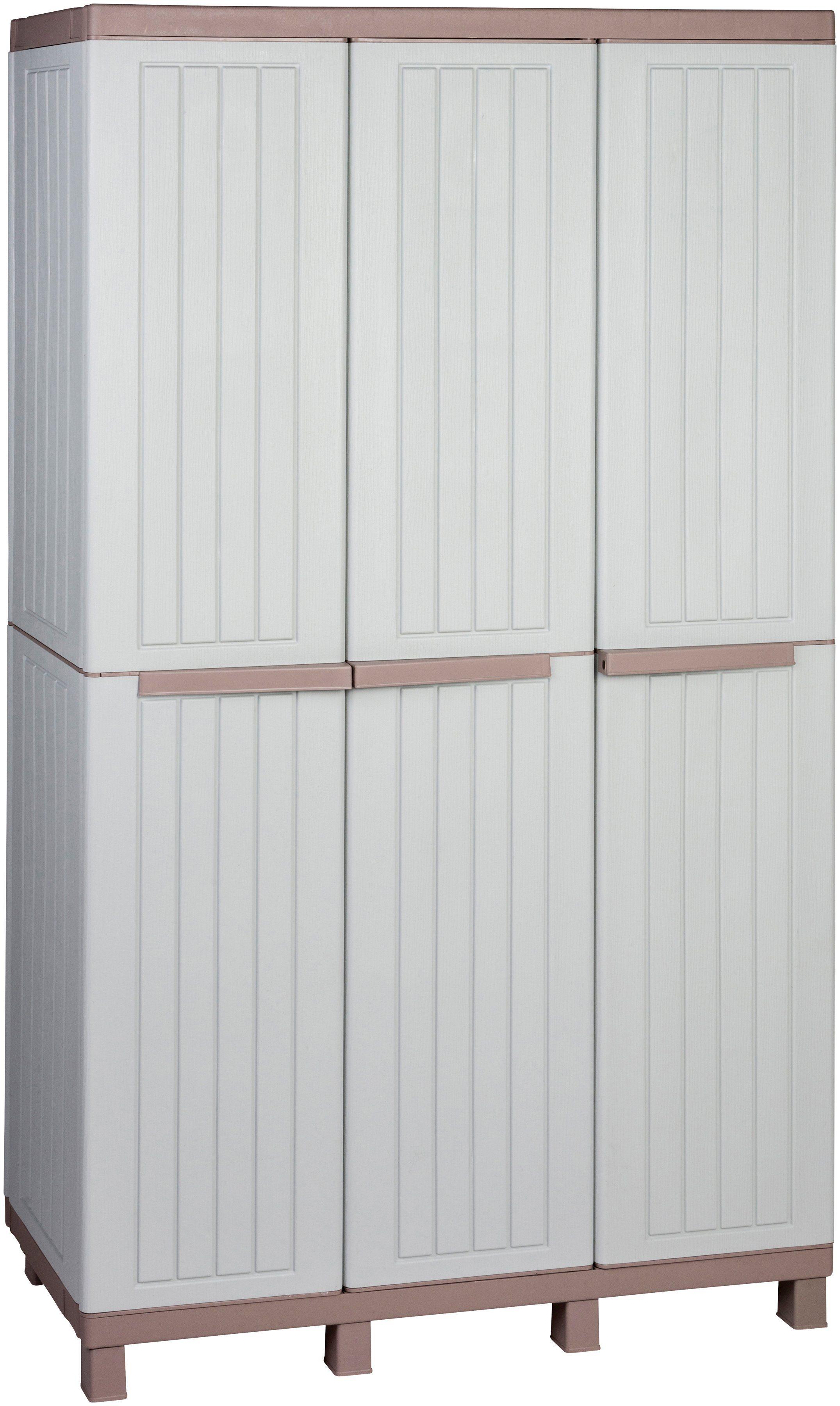 Multifunktionsschrank »Holz-ähnliche Struktur«, mit 3 Türen