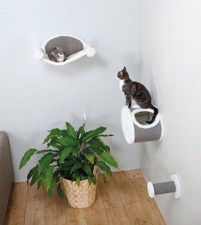 Katzen-Kletterwand »Kletterstufe zur Wandmontage« in grau/weiß