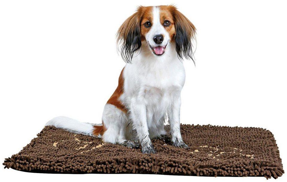 Schmutzfangmatte für Hunde, braun, BxT: 80x55 cm in braun