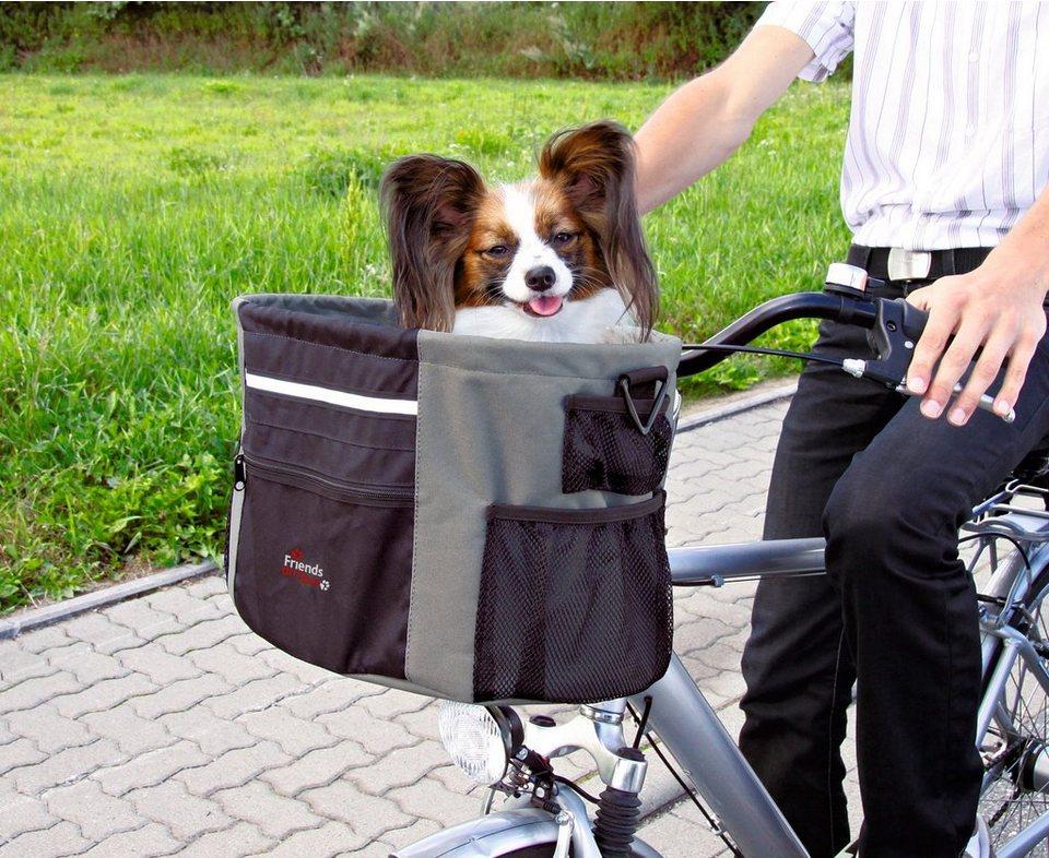 Hunde-Fahrradtasche, B/T/H: 38/28/27 cm in schwarz