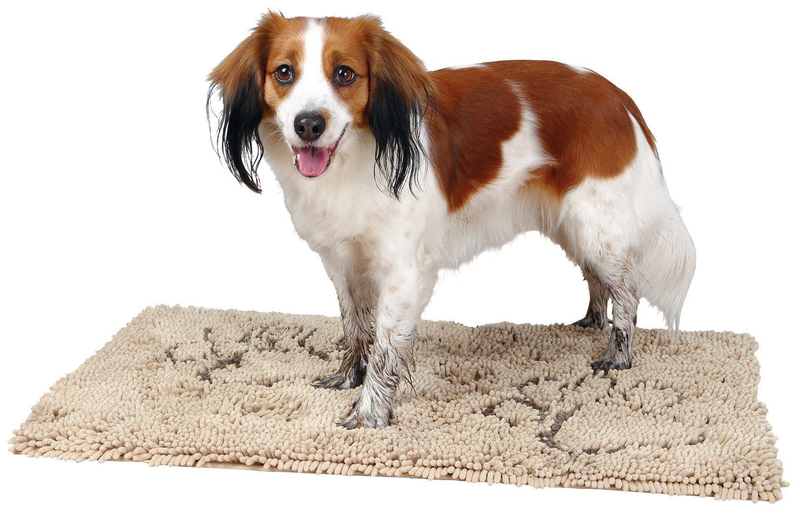 Schmutzfangmatte für Hunde, beige, BxT: 80x55 cm