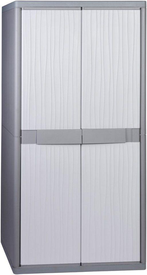 Spindschrank »XL Jumbo«, mit Freifach und Riegel in grau