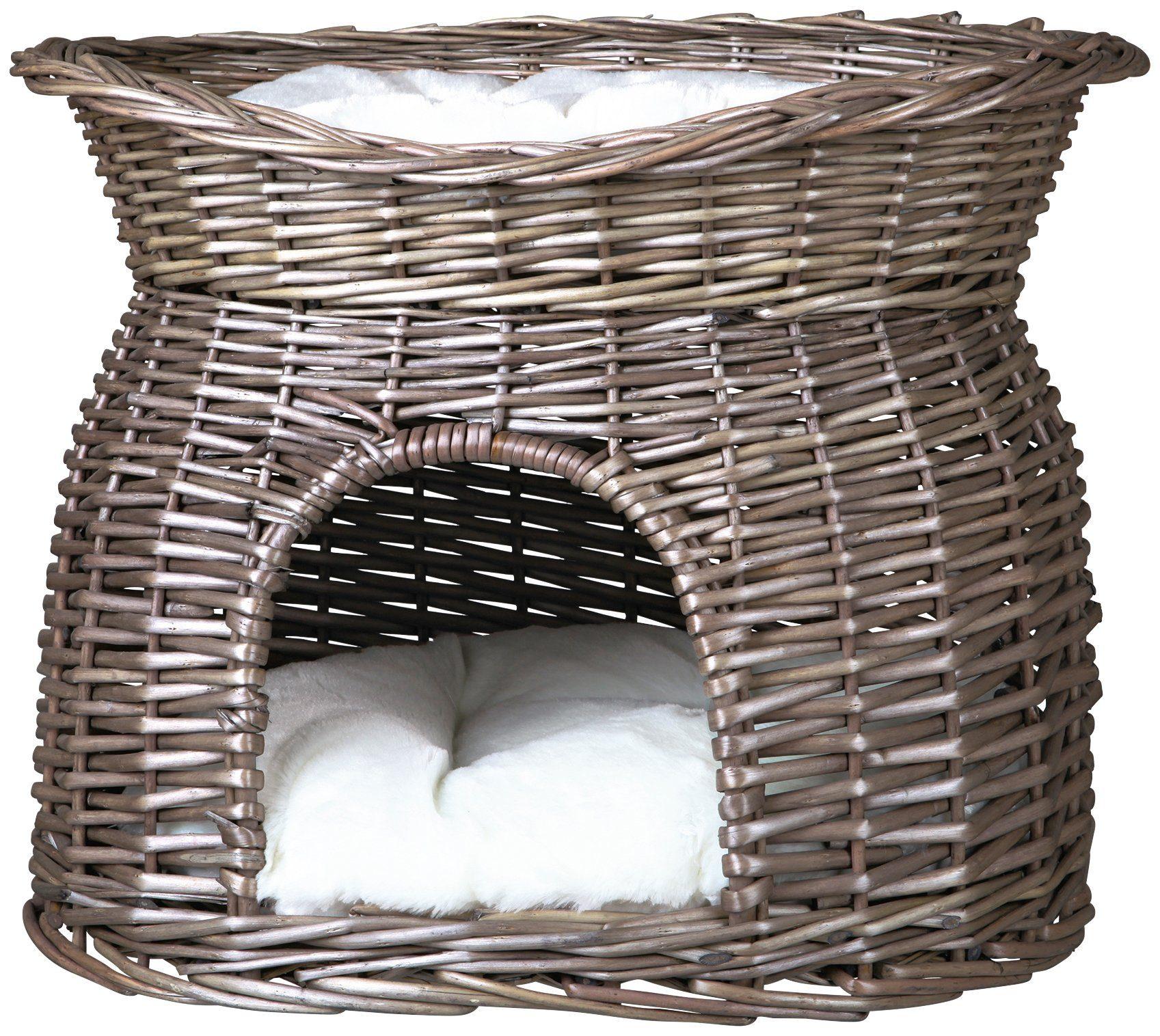 Katzen-Korbturm »Weidenkorb mit Kissen«