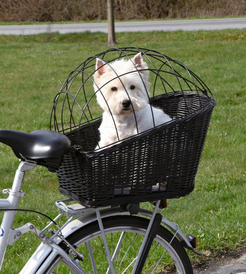 Hunde-Fahrradkorb, B/T/H: 35/55/49 cm, bis zu 12 kg in schwarz